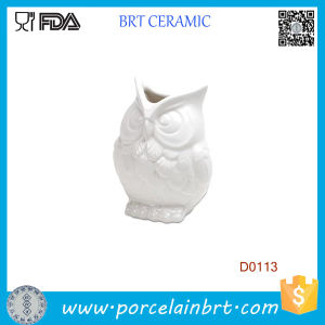 New White Abbott Owel Ceramic Vase Flower pictures & photos