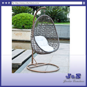 Single Seat Hanging Swing for Outdoor Garden Rattan Furniture, Patio Wicker Hanging Chair pictures & photos