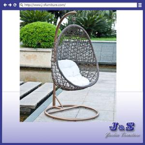 Single Seat Hanging Swing For Outdoor Garden Rattan Furniture, Patio Wicker Hanging  Chair