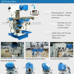 Lm1450A China Cheap Universal Swivel Head Milling Machine