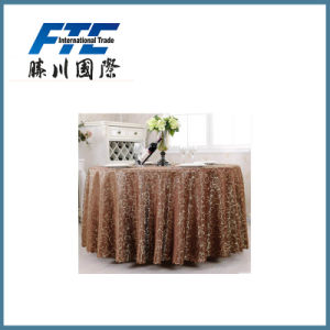 Environmentally Friendly Chemical Fiber Round Table Cloth pictures & photos