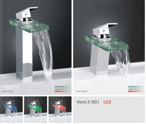 Waterfall Basin Mixer with LED Light/ S-002