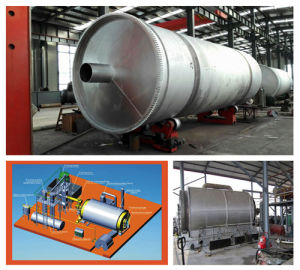 Pollution Free Tire to Oil Refining Machinery for Pyrolysis Oil pictures & photos