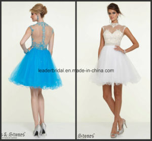 Sheer Neck Mini Party Prom Gowns Cocktail Homecoming Dresses Y1026 pictures & photos