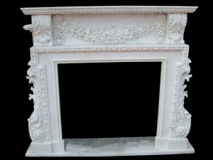 White Marble Fireplace (FRP367) pictures & photos