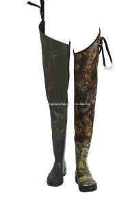 Neoprene Hip Wader for Fishing with Solid Polyester Fabric (HX-FW0004) pictures & photos