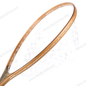 Burl Wood Rubber Net Fishing Landing Net pictures & photos