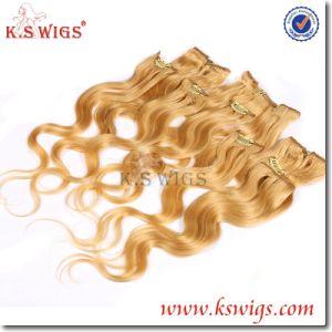 5A Clip Hair Extension Virgin Brazilian Hair pictures & photos