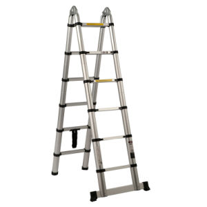 Silver White Telescopic Ladder for Sale pictures & photos