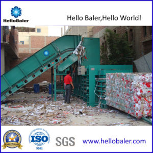 Automatic Horizontal Waste Paper Baler, Cardboard Baler, Baling Press Machine pictures & photos