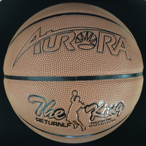 Large Particle Surface Leather Laminated Basketball pictures & photos
