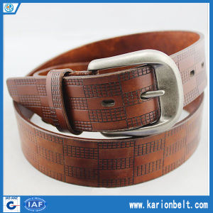 New Classic Cow Leather Embossing Belt for Man (40-11272D)