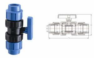 PP Pipe Fitting Series PP True Union Ball Valve (V26) pictures & photos