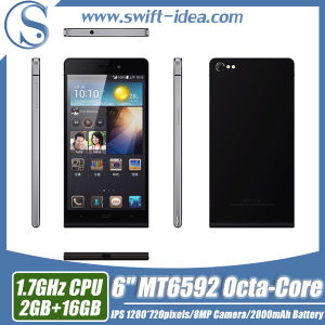 "6"" Mtk6592 Octa Core GSM 3G GPS Smart Mobile Phone (P92)"