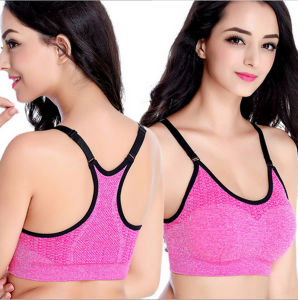 Fashion Dri Fit Compression Slim High Strength Seamless Women′s Yoga Bras pictures & photos
