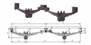 American Type Tandem Axle Trailer Mechanical Suspension pictures & photos
