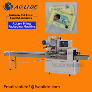 Auto Flow Baby Soft Wet Tissue Wrapping and Packing Machine pictures & photos