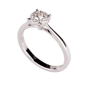 925 Silver Ring With Diamond (928-7)