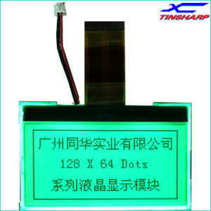3.3 V 128X64 Stn Transmissive Positive Yellow-Green Cog LCD Display (TG12864-COG26B)