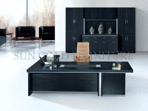 Modern Panel Executive Desk with Black Color (SZ-OD060) pictures & photos