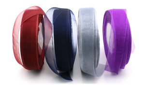 Hot Sale Fancy Cheap Custom Glitter Organza Ribbon