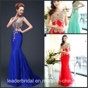 Blue Red Coral Lace Party Prom Dresses Vestidos Wedding Formal Evening Dress Tb15 pictures & photos