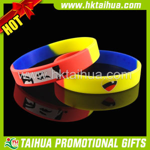 Promotional Custom Silicone Bracelet with Segmented Printed (TH-band047) pictures & photos