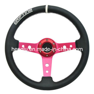 Deep Disk PVC PU Racing Steering Wheel (HL1001680) pictures & photos