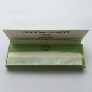 Richer Fsc King Size Ultra Slim Cigarette Rolling Papers with 100% Natural Arabic Gum pictures & photos