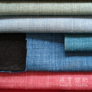 Compound Polyester Linen Fabric with Brushed Velvet Backside pictures & photos