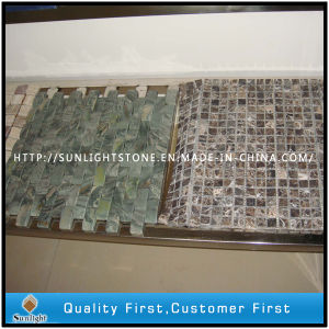 Natural Green/ Dark Grey Marble Stone Mosaic for Swimming Pool pictures & photos