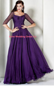 Purple Chiffon Evening Gown (EG590)