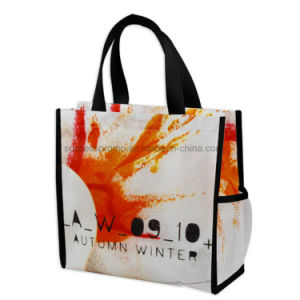 PP Non Woven Laminated Shopping Bag with Bottle Holder pictures & photos