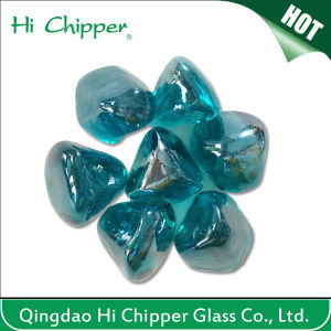 Ocean Blue Facted Decorative Glass Gems Stone for Fireplace pictures & photos