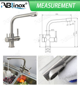 Ablinox Double-Handle Water Filteration Mixer (AB113) pictures & photos