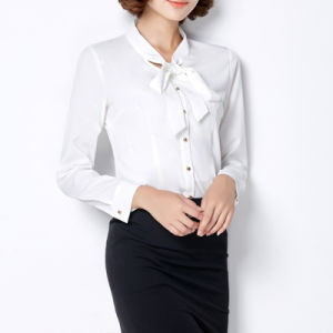 Custom Classic Ladies Blouses and Top Ladies Office Wear Clothing pictures & photos