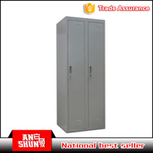 Easy to Insall Steel Knock Down Structural Packing 2 Doors Clothes Storage Locker Cabinet pictures & photos