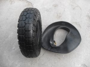 Tire and Tube 4.10/3.50-4 for Trolley Wheel Wheelbarrow Wheel pictures & photos
