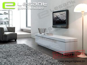 TV Table with MDF in White High Gross -T338 pictures & photos