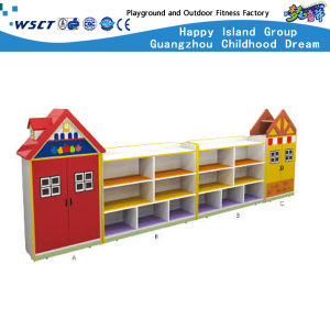 Simple and Practical Wooden Storage Box for Kids Role Play Shelf (HC-3103) pictures & photos