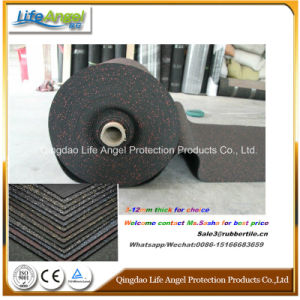 Anti-Shock 3-12mm Thickness Rubber Flooring in Roll