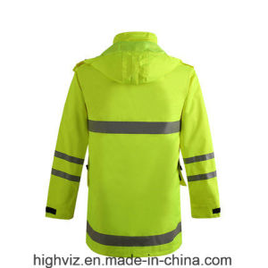 High Visibility Safety Rain Jacket with ANSI107 (C2441) pictures & photos