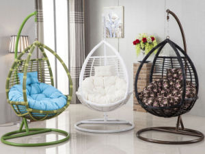 Oqo Outdoor Rattan Swing Egg Chair / Garden Swing Metal Outdoor Patio Furniture / Outdoor Egg Chair D008 pictures & photos