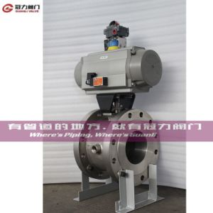 Flange Wafer Pneumatic Jacket Segment Ball Valve pictures & photos