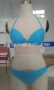 Sexy Two-Piece Moluld Cup Bikini (QG-605M) pictures & photos