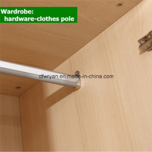 Four Doors Wood Grains Panel Wardrobe pictures & photos