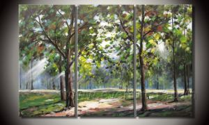 Modern 100% Handmade Landscape Oil Painting on Canavs for Home Decoration (LA3-027) pictures & photos