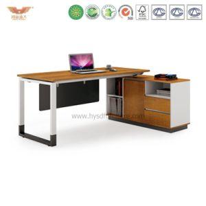 Modern Office Furniture L Shape Wooden Executive Desk (H90-0107)