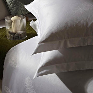 100% Cotton Solid Color Jacquard Hotel Pillowcase White Pillowcover pictures & photos