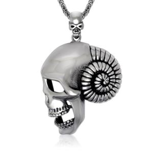 Skull Necklace Pendant Gothic Fashion Accessories 316L Stainless Steel pictures & photos